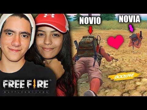 Jugando Free Fire Por Primera Vez Con Mi Novia La Partida Mas