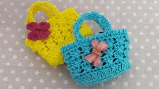 كروشيه Mini Bolsita De Crochetمينى شنطه ميداليه