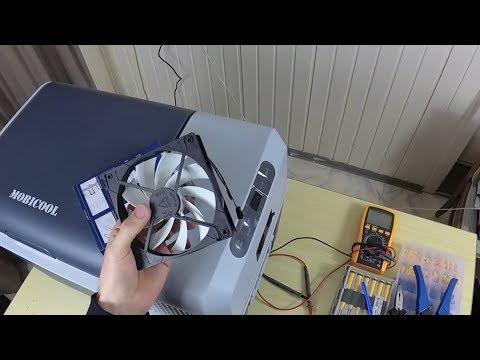 Umbau des Lüfters einer Mobicool FR40 - Kühlbox leiser machen - zu laut zum schlafen - Lautstärke