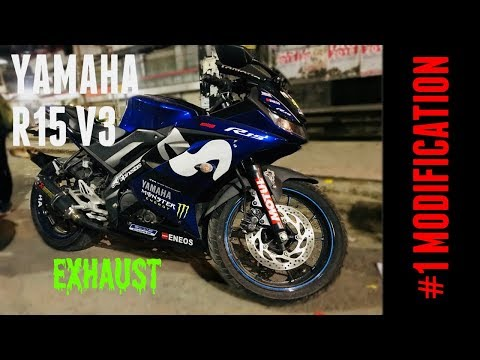 YAMAHA R15 V3 MotoGP Edition | Sticker | Akrapovic Exhaust