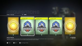 Halo 5 HCS REQ Pack Opening -  Three Packs - Mythic Helmets & Armor, Barbed Lance and More
