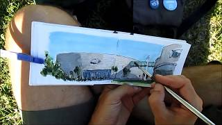 Urban Sketching In Lisbon - Champalimaud Centre