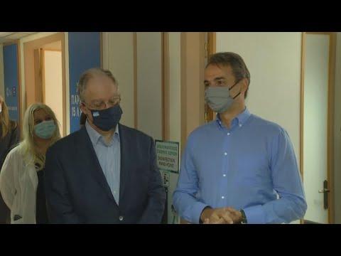 Από το νέο Εμβολιαστικό Κέντρο ξεκίνησε η επίσκεψη του Κυρ. Μητσοτάκη στα Ιωάννινα