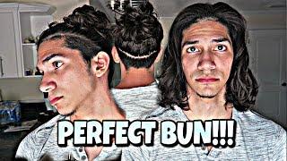 How To Messy Man Bun !! (Easy Messy Manbun Hair Tutorial )