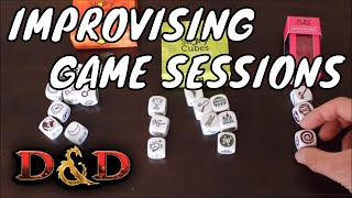 Improvising with Story Cubes  during Dungeons & Dragons Sessions