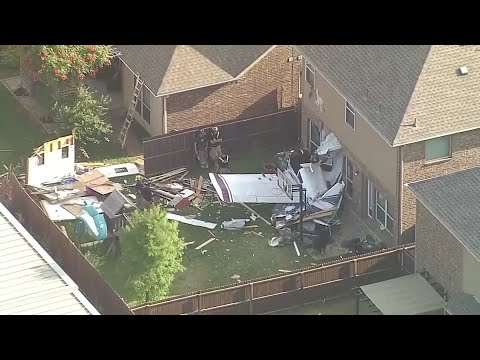 Two people were injured when the small plane in which they were flying crashed into a home in McKinney, Texas. A mother and her children who were inside the home were unharmed. (May 24)