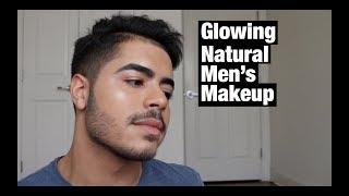 Natural Glowing Mens Makeup Look