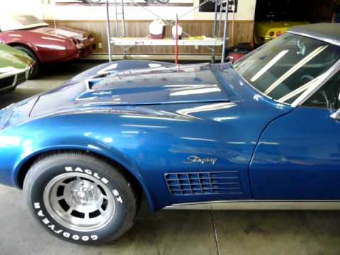 1970 Bridgehampton Blue Corvette 454/390HP Convertible Video
