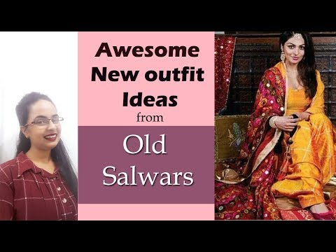 New Dresses From Old Salwars | Old Salwar Reuse Ideas| In Hindi| English Subtitles