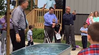 Christian Water Baptism and quote from Pastor William Branham at The Branham Tabernacle
