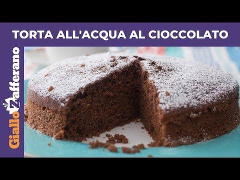 TORTA ALL'ACQUA AL CIOCCOLATO: torta senza latte, senza burro e senza uova!