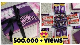 How To Make Chocolate Explosion Box At Home/ Diy Gifts For Birthday Ideas