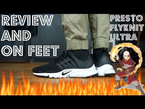 "Nike Air Presto Flyknit Ultra ""Black"" Review & On Feet"
