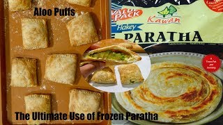 How to make Aloo Puffs from  Frozen Flaky Paratha Puff Pastry Video Recipe | Bhavna's Kitchen
