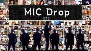 bts mic drop snl live reaction mashup - TH-Clip