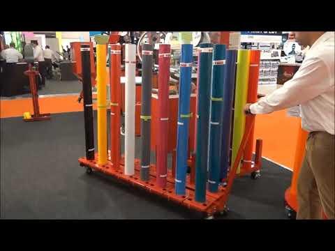 EASY RACK - Rollenständer - Rollenwagen - Rollenlagersystem für bis zu 16 Rollen