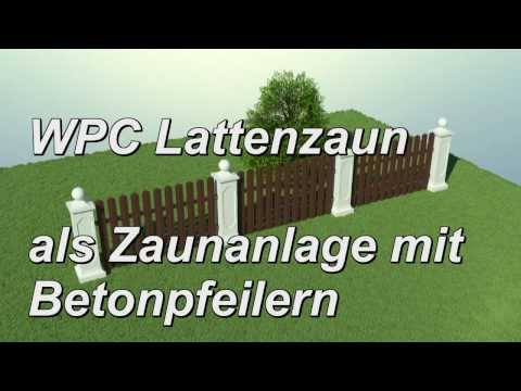 WPC Lattenzaun Zaunsystem Betonpfeiler Sockel Abdeckung Kugel - Gartenzaun Zierzaun Zaun Bretterzaun