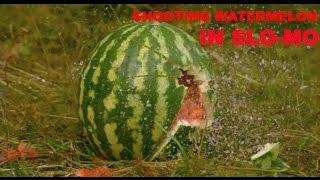 Shooting Watermelons In SloMo 1