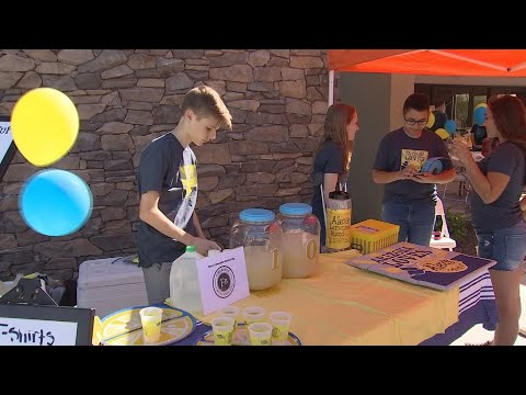 VIDEO: 14-year-old boy holds lemonade stand to raise money for cancer research