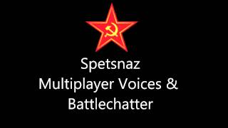Modern Warfare 2 - Spetsnaz Multiplayer Voices & Battle Chatter