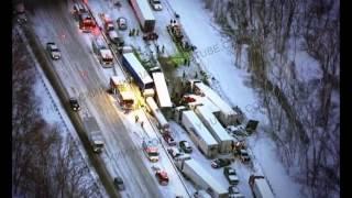 Крупная авария в США, зима беспощадна