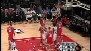 Allen Iverson & Michael Jordan 2003 NBA All Star Highlight