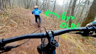 Mountain Biking At Charles D Owen with my 6 year old.