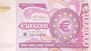 One Million Euro Bank Note Bill 1.000.000 € 1 Millionen