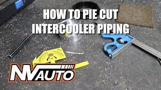 How to pie cut intercooler piping