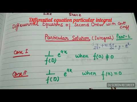 Download Differential Equations Of Second Order Particular
