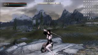 PC SKYRIM KUKU's animation :Female Two handed sword animation MOD fix and equip,unequip,idle