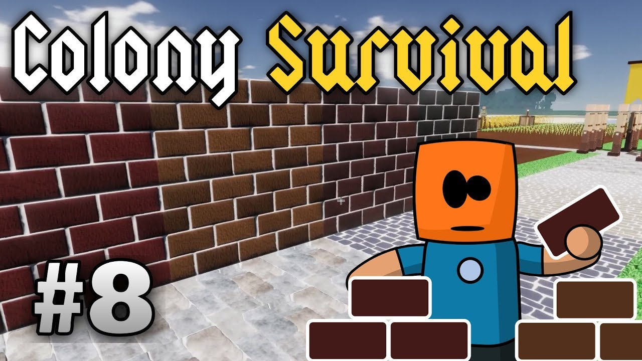 Colony Survival ep8 | Stonemason's Workbench, Bricks and Cobblestone