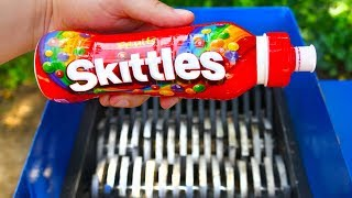 SHREDDING SKITTLES MILK SHAKE!