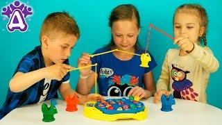 Рыбалка для детей Распаковка Детские игры Let's Go Fishin' game for children Розыгрыш