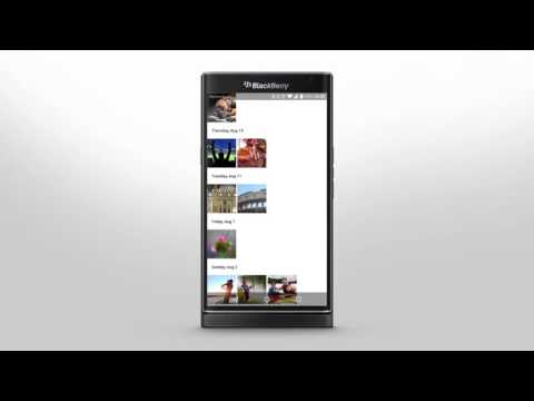 PRIV by BlackBerry - Getting Around The Smartphone Interface: Official How To Demo - YouTube