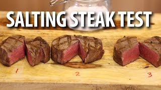 How To Salt A Steak - Experiment | - BIG MEAT SUNDAY