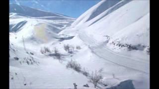 Erzurum Dağları Kar İle Boran
