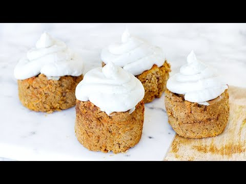 Healthy Carrot Cake Cupcakes! Homemade Easy Recipe For a Healthy Dessert!