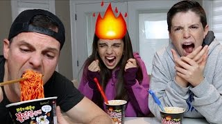 THIS IS NOT SAFE!! | Korean Fire Noodle Challenge