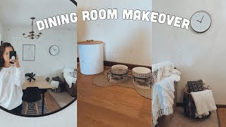 DINING ROOM MAKEOVER!! | Decorate My Dinning Room With Me 2020