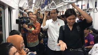 Coba MRT untuk Kedua Kalinya, Jokowi Terima Saran dari Penyandang Disabilitas