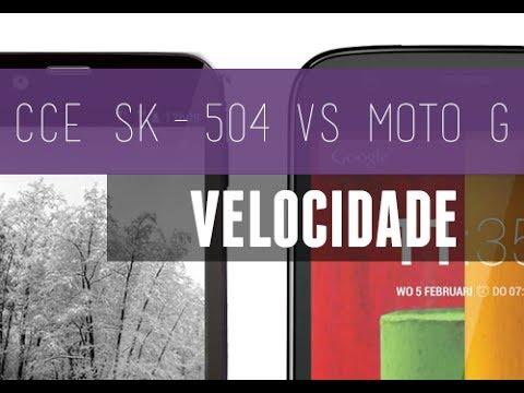 Descargar Moto G vs CCE SK504 Velocidade P/ Abrir Apps + Teste Antutu Benchmark para Celular  #Android
