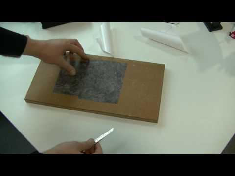 Scheidetechniken bei Möbelfolie Stoß an Stoß