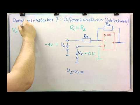 Elektronik - OPV 7 - Differenzverstärker (Subtrahierer, Vergleicher)
