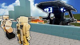ALIEN TRIPOD BATTLE IN LEGO CITY! - Brick Rigs Roleplay Gameplay - Alien Invasion Survival