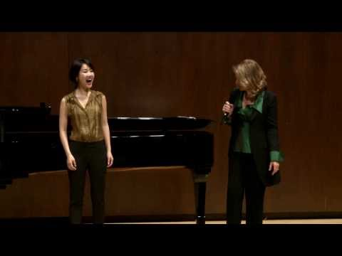Renée Fleming Master Class, February 13, 2014: Hyesang Park and Bretton Brown