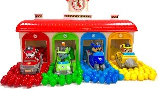 Best Learning Colors Video for Children - Paw Patrol Gumball Surprise in Tayo Garage