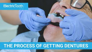 The stages of getting a denture & false teeth