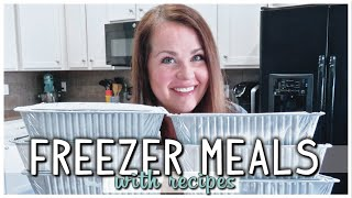 EASY MAKE AHEAD FREEZER MEALS | PREP WITH ME | FAMILY FAVORITES