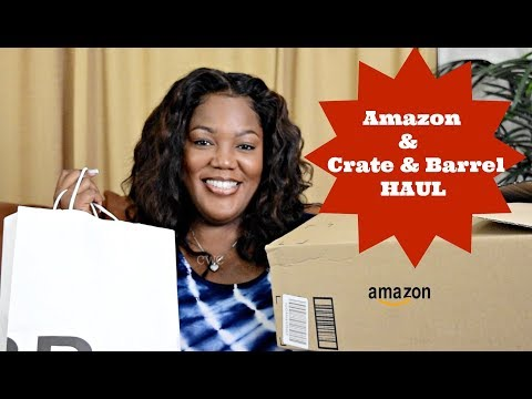 Crate & Barrel and Amazon Haul  Cooking With Carolyn